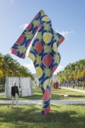 , Yinka Shonibare, MBE's Wind Sculpture IV  Installed at Art Basel Miami Beach's Public exhibition Fieldwork