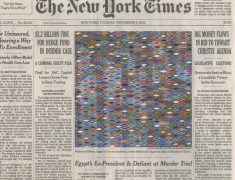 , FRED TOMASELLI Nov. 5, 2013, 2014 Gouache and archival inkjet print on watercolor paper 8 1/2 x 11 in. (21.6 x 27.9 cm)