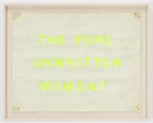 , SIMON EVANS The Pure Unwritten Moment, 2013 Sun bleached poster board 21 5/8 x 27 3/4 in. (54.9 x 70.5 cm)