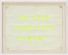 , SIMON EVANSThe Pure Unwritten Moment,2013Sun bleached poster board21 5/8 x 27 3/4 in. (54.9 x 70.5 cm)