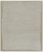 , HELENE APPEL Grey Cleaning Rag, 2014 Acrylic and watercolor on burlap 27 1/2 x 23 3/16 in. (70 x 59 cm)