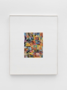 Brightly colored field of abstract shapes