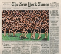 , FRED TOMASELLI Aug. 29, 2013, 2013 Collage, gouache, marker, and archival inkjet print on watercolor paper 10 3/4 x 12 1/4 in. (27.3 x 31.1 cm)