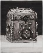 """SHI ZHIYING 石至莹Reliquary é‡'筐宝é'¿ççè£…ç¢""""玞石宝函, 2013 Oil on canvas 20 1/8 x 16 3/16 in. (52 x 42 cm)"""