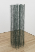 , ALAN SARET Evergreen Air, 2014 Vinyl coated wire 90 x 29 x 29 in. (228.6 x 73.7 x 73.7 cm)