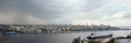 Havana from across the Bay, 1998, C-print, 39 3/8 x 94 1/8 inches