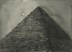 SHI ZHIYING 石至莹 The Pyramid金字塔, 2013 Watercolor on paper 12 1/16 x 16 in. (31 x 41 cm)