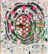 TRENTON DOYLE HANCOCKPlate of Shrimp2012 Acrylic and mixed media on canvas 60 x 54 x 1 1/2 in.
