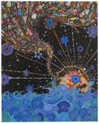 , FRED TOMASELLI Untitled, 2014 Photo-collage, leaves, acrylic, and resin on wood panel