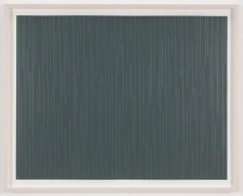 , SPENCER FINCH, Rain (Brooklyn) , 2014, Scotch tape on paper, 19 3/4 x 25 1/2 in. (sheet), 21 5/8 x 27 1/2 in. (framed)