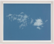 , SPENCER FINCH, Cloud (cumulus fractus, Greece), 2014, Scotch tape on paper, 19 3/4 x 25 1/2 in. (sheet) 21 5/8 x 27 1/2 in. (framed)
