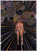 FRED TOMASELLI, Airborne Event, 2003, mixed media, acrylic paint, resin on wood, 84 x 60 x 1 1/2 inches