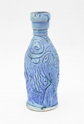 , Dreaming Blue, 1980, Reduction glazed porcelain, 11 1/4 x 4 x 4 in.