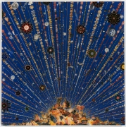 , FRED TOMASELLICar Bomb,2008Photocollage, acrylic, resin on wood panel60 x 60 in. (152.4 x 152.4 cm)