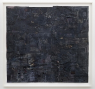 , SIMON EVANS Untitled (Black Picture), 2014 Found paper and mixed media on paper