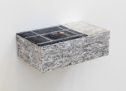 , SIMON EVANS Religious Building, 2014 Mixed media, shoe box 4 1/4 x 13 x 7 1/2 in. (10.8 x 33 x 19.1 cm)