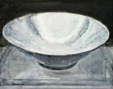 SHI ZHIYING 石至莹Egg-white Glazed Porcelain Bowl 卵白釉碗, 2013 Oil on canvas 15 1/4 x 19 1/4 in. (40 x 50 cm)