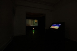 APICHATPONG WEERASETHAKUL, Morakot (Emerald) 莫拉克(翡翠色); FENG MENGBO 冯梦波, Long March: Restart 长征:重启, Installation view, James Cohan Gallery, Shanghai, 2010