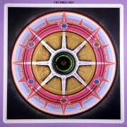 , PAUL LAFFOLEY The World Self, 1967 Oil, acrylic, and vinyl press type on canvas with a magic mirror 61 1/2 x 61 3/8 in. (156.2 x 155.9 cm)