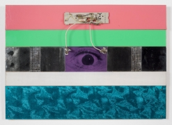 , Radio Cyclops, 1964. Plexiglas, steel and mirror on wood.  18 x 26 in.  Collection Nancy Holt Estate