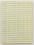 , MICHELLE GRABNER Green and Yellow Curtain, 1998 Enamel on panel 24 x 18 in. (61 x 45.7 cm)