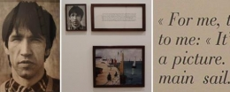 Sophie Calle, fron the series - The Blind, 1986. framed photographs and text, 45 x 50 inches