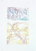 INGRID CALAME #248 Drawing (Tracings up to the L.A. River placed in the Clark Telescope Dome, Lowell Observatory, Flagstaff, AZ) 绘画248号(亚利桑那州,弗拉格斯塔夫,洛厄尔天文台,克拉克望远观测台,往洛杉矶河追踪, 2006 Color pencil on trace Mylar 彩色铅笔于聚酯薄膜 26 x 18 inches; 66 x 45.7 cm