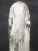 , SHI ZHIYING 石至莹, White Marble Figure of Buddha, 2014 Oil on canvas 94 7/16 x 70 13/16 in.