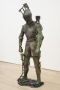 , FOLKERT DE JONG Fidei Defensor, 2014 Patinated bronze 82 5/8 x 35 3/8 x 25 9/16 in. (210 x 90 x 65 cm) Edition of 3