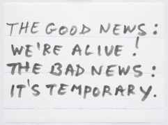 Sean Landers, The Good News: We Are Alive! The Bad News: It's Temporary