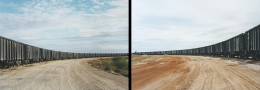 Victoria Sambunaris (American, b. 1964), Untitled (rail yard) and Untitled (rail car unloading), Near Cotulla, TX, 2012
