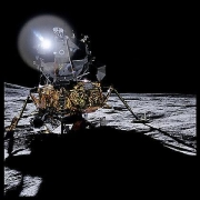 051, The Lunar Module Antares at Fra Mauro, Apollo 14, January 31-February 9, 1971, digital c-print, 24.5 x 24.5 inches