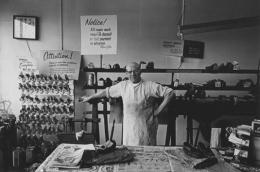 Shoe repair shop owner, Detroit, 1968