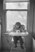 Ana Kuzick at home in high chair, Detroit, 1968