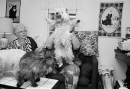 Woman with Westies, New London, New Hampshire, 1992