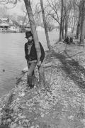 Boys on a canal bank, Detroit, 1968