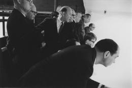 Businessmen at a squash match, Detroit, 1968
