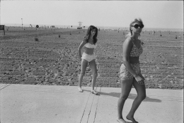 Young girls at Metropolitan beach , 1968