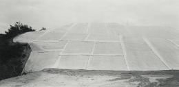 Gene Kennedy, Erosion Control (plastic-draped hill), Above South Laguna, Orange County, California