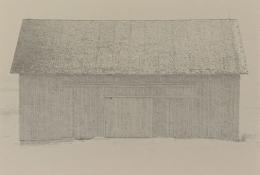 Bill Timmerman, Barn, Wyoming, 1975, toned gelatin silver print