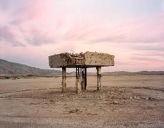 Remnants of Military Observation Station and Target Practice Range in Clark Dry Lake, Anza Borrego, CA