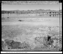 Trailer Park Across the Colorado River, Movalya, Arizona, 1988, vintage gelatin silver print