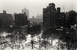 Michael Kenna, Gramercy Park Overlook, New York, New York, 2003, gelatin silver print, 6 x 9 inches