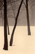 Paul Kozal, Winter in Palos, 1995, sepia toned gelatin silver print, 8 x 10 inches