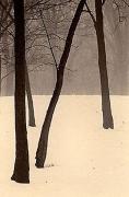 Paul Kozal, Winter in Palos, 1995, sepia toned gelatin silver print, 8 x 10 inches
