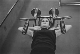 Woman at a gym, Detroit, 1968