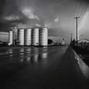 Frank Gohlke, Grain Elevator and Lightning Flash, Lamesa, TX