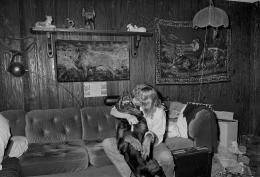 Woman Kissing Rottweiler, Brockton, Massachusetts, 1992