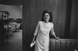 Waitress in an empty restaurant, 1968