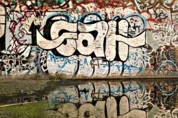 Under-bridge Graffiti, Near Downy, California, 2007